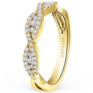 Kirk Kara Pirouetta Split Shank Twist Diamond Wedding Ring