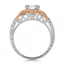 Load image into Gallery viewer, Kirk Kara Pirouetta Two Tone Halo Diamond Engagement Ring