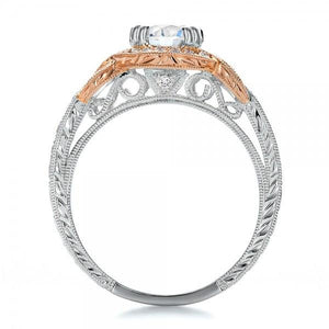 Kirk Kara Pirouetta Two Tone Halo Diamond Engagement Ring