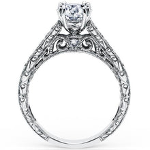 "Load image into Gallery viewer, Kirk Kara ""Stella"" Filgree Diamond Engagement Ring"