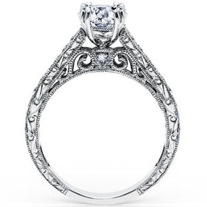 "Kirk Kara ""Stella"" Filgree Diamond Engagement Ring"