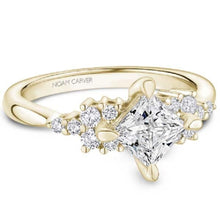 Load image into Gallery viewer, Noam Carver Compass Set Princess Cut Diamond Cluster Engagement Ring