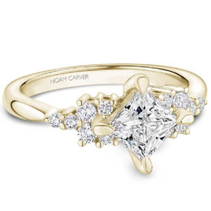 Noam Carver Compass Set Princess Cut Diamond Cluster Engagement Ring