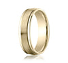 Benchmark 6mm Comfort-Fit 10kt Yellow Gold Carved Wedding Ring