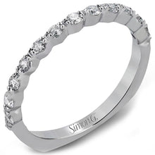 "Load image into Gallery viewer, Simon G. ""Modern Classic"" Diamond Wedding Ring"