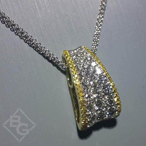 Simon G. Pave Diamond Pave Pendant Featuring Yellow & White Diamonds