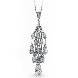"Simon G. Pave Diamond Teardrop ""Chandelier"" Drop Pendant"