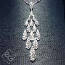 "Load image into Gallery viewer, Simon G. Pave Diamond Teardrop ""Chandelier"" Drop Pendant"