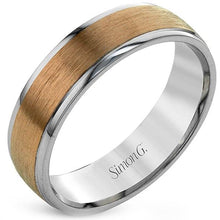 Load image into Gallery viewer, Simon G. Rose & White Gold Two-Tone 6 MM Men's Wedding Band