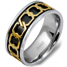 Load image into Gallery viewer, Simon G. Two-Tone Gold Chain Link Wedding Band