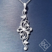 Load image into Gallery viewer, Simon G. Vintage Style Filigree Scrollwork Diamond Pendant