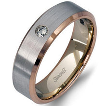 Load image into Gallery viewer, Simon G. White and Rose Gold Two-Tone 5.5 MM Diamond Wedding Band