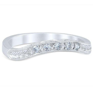Whitehouse Brothers Floral Burst Vintage Style Diamond Wedding Ring