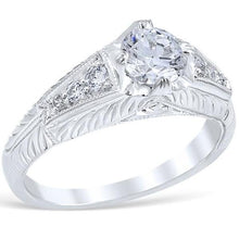 "Load image into Gallery viewer, Whitehouse Brothers ""Rosario"" Diamond Engagement Ring"