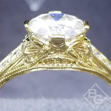 "Load image into Gallery viewer, Whitehouse Brothers Yellow Gold ""Fiorella"" Diamond Engagement Ring"