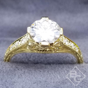 "Whitehouse Brothers Yellow Gold ""Fiorella"" Diamond Engagement Ring"