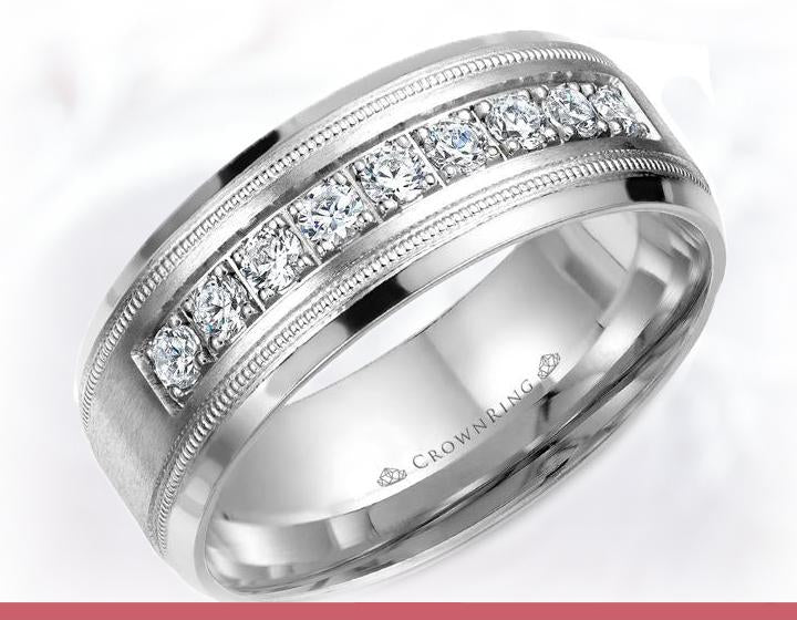 Barkev's Tension Twist Half Bezel Set Princess Cut Diamond Engagement Ring