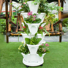 Load image into Gallery viewer, Stand Stacking Planters Strawberry Planting Pots