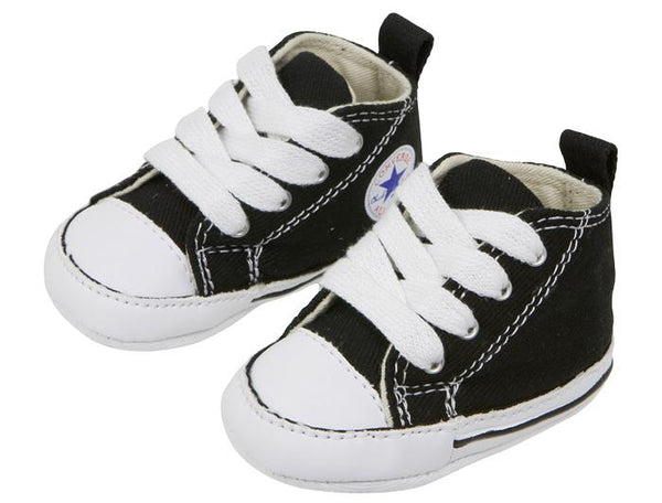 Converse Infants Chuck Taylor First Star Hi Black Angle 1