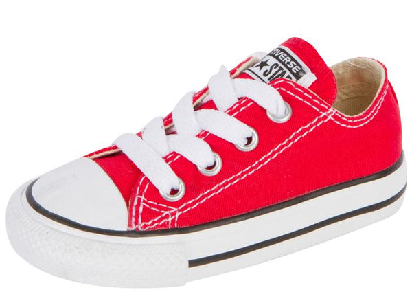 Converse Infants Chuck Taylor All Star Lo Red Angle 1