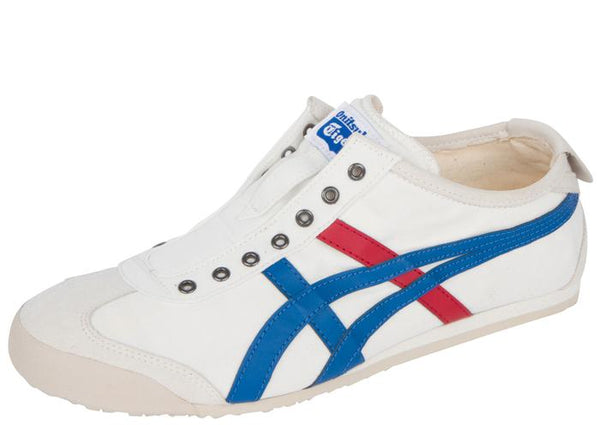 Asics Onitsuka Mexico 66 Slip On White Tricolor Angle 1