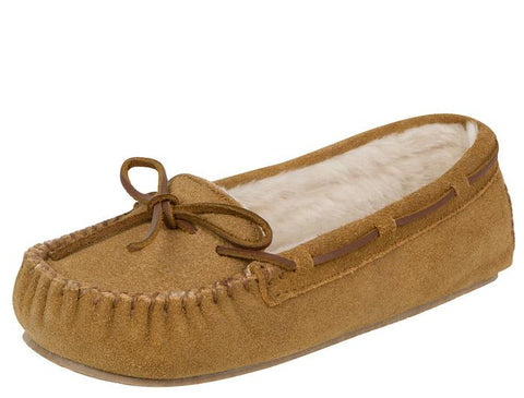 Minnetonka Womens Cally Slipper Cinnamon Angle 1