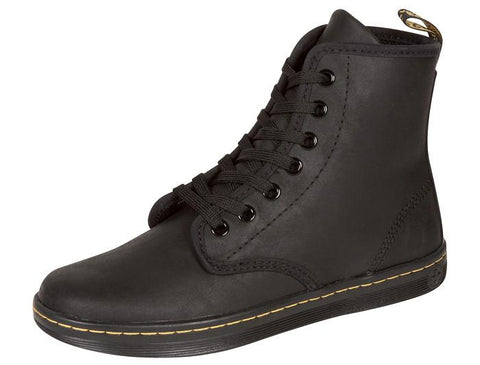 Dr Martens Shoreditch 7 Eye Greasy Lamper Black Angle 1