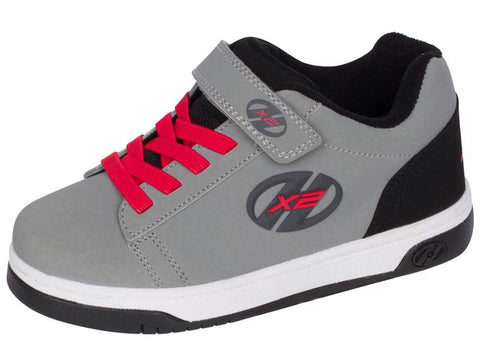 Heelys Kids Dual Up X2 Solid Grey Black Red Angle 1