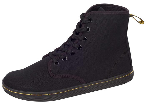 Dr Martens Shoreditch 7 Eye Canvas Black Angle 1