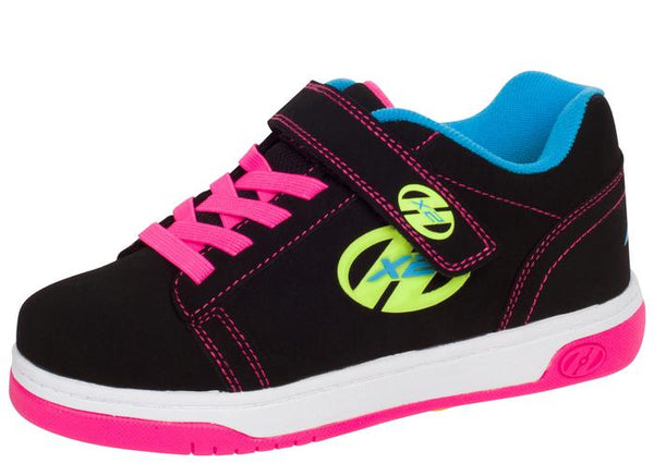 Heelys Kids Dual UP X2 Solid Black Neon Multi Angle 1