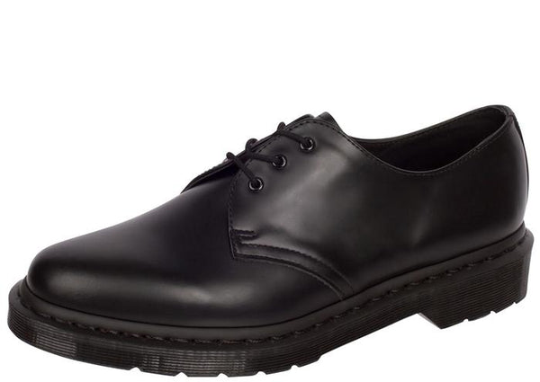 Dr Martens 1461 Mono 3 Eye Smooth Black Angle 1