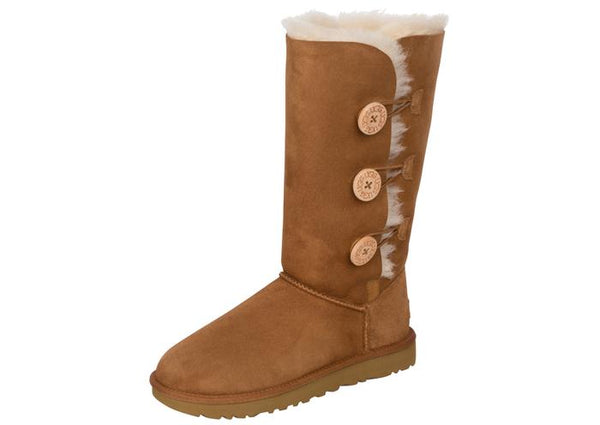 UGG Womens Bailey Button Triplet II Chestnut Angle 1