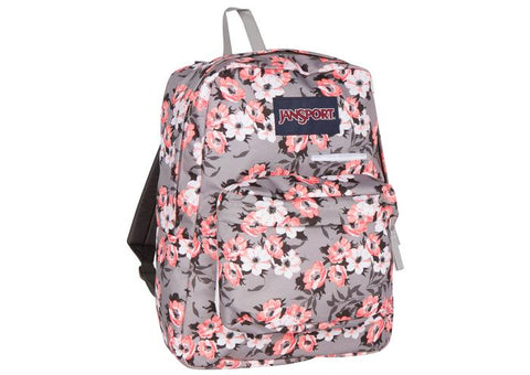JanSport Digibreak Coral Sparkle Pretty Posey Angle 1