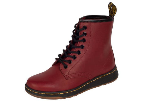 Dr Martens Lite Newton 8 Eye Cherry Red Temperley Angle 1