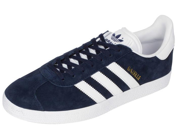 adidas Gazelle Navy White Gold Angle 1