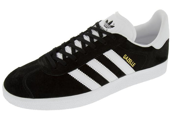 adidas Gazelle Black White Gold Angle 1