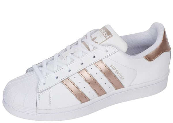 adidas Womens Superstar White Copper White Angle 1