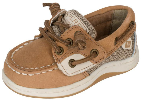 Sperry Infants Songfish Jr. Linen Oat Angle 1