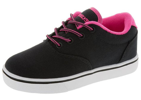 Heelys Kids Launch Black Neon Pink White Angle 1