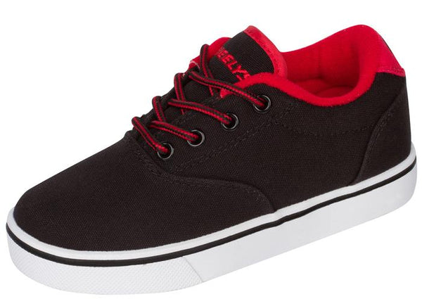 Heelys Kids Launch Black Black Red Angle 1