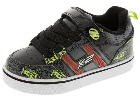 Heelys Kids Bolt Plus X2 Black Grey Bright Yelllow Angle 1