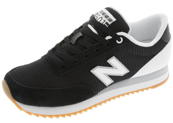 New Balance 501 Ripple Sole Black White Angle 1