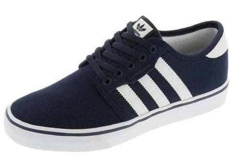 adidas Kids Seeley J Collegiate Navy White Angle 1