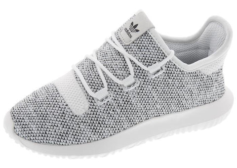 adidas Childrens Tubular Shadow Knit White White Black Angle 1