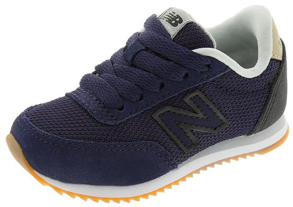 New Balance Infants 501 Ripple Sole Navy Black Angle 1