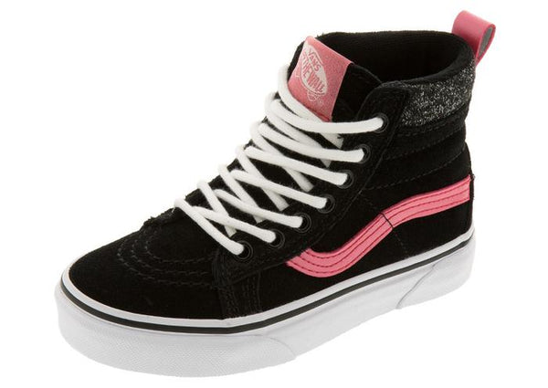 Vans Childrens Sk8 Hi MTE Black Metallic Angle 1
