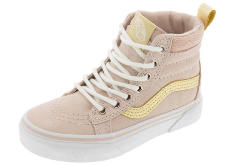Vans Childrens Sk8 Hi MTE Sepia Rose Metallic Angle 1