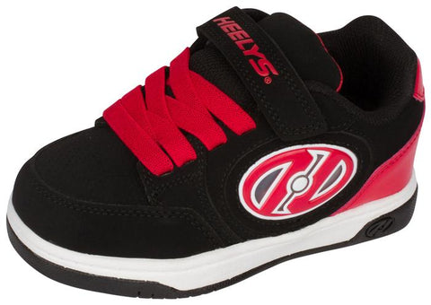 Heelys Kids Plus X2 Lighted Black Red Angle 1