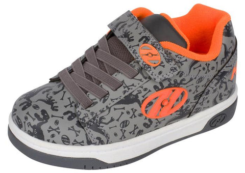 Heelys Kids Dual Up X2 Grey Charcoal Orange Angle 1