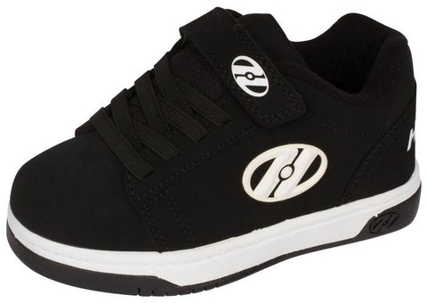 Heelys Kids Dual Up X2 Black White Angle 1